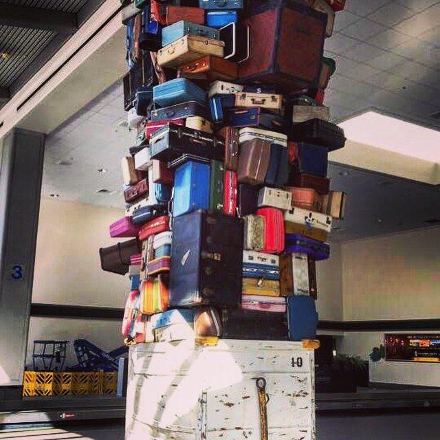 San Bernardino Airport luggage display. Packing up!