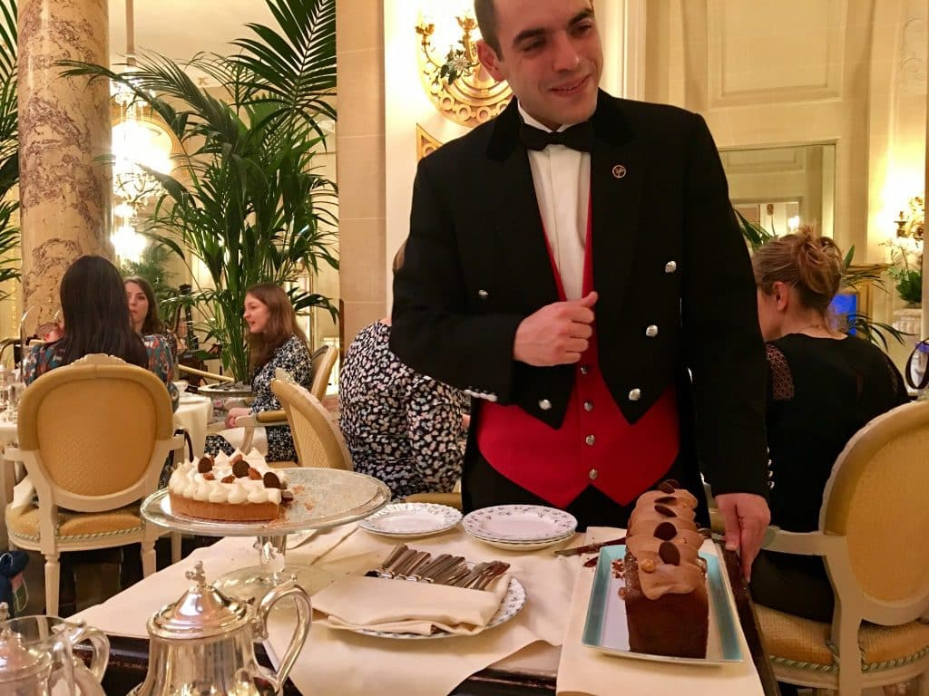 Desserts at the Ritz London