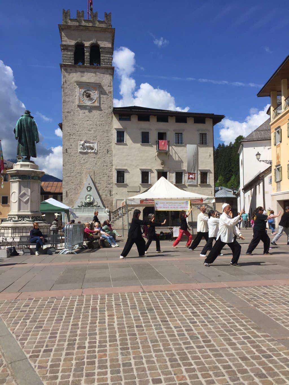Pieve di Cadore, Veneto, Italy. Tai Chi being practiced