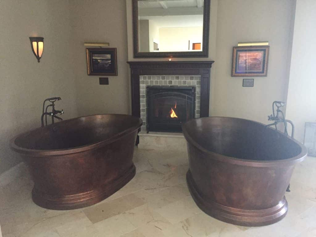 Copper tubs at the Deer Valley Montage Spa