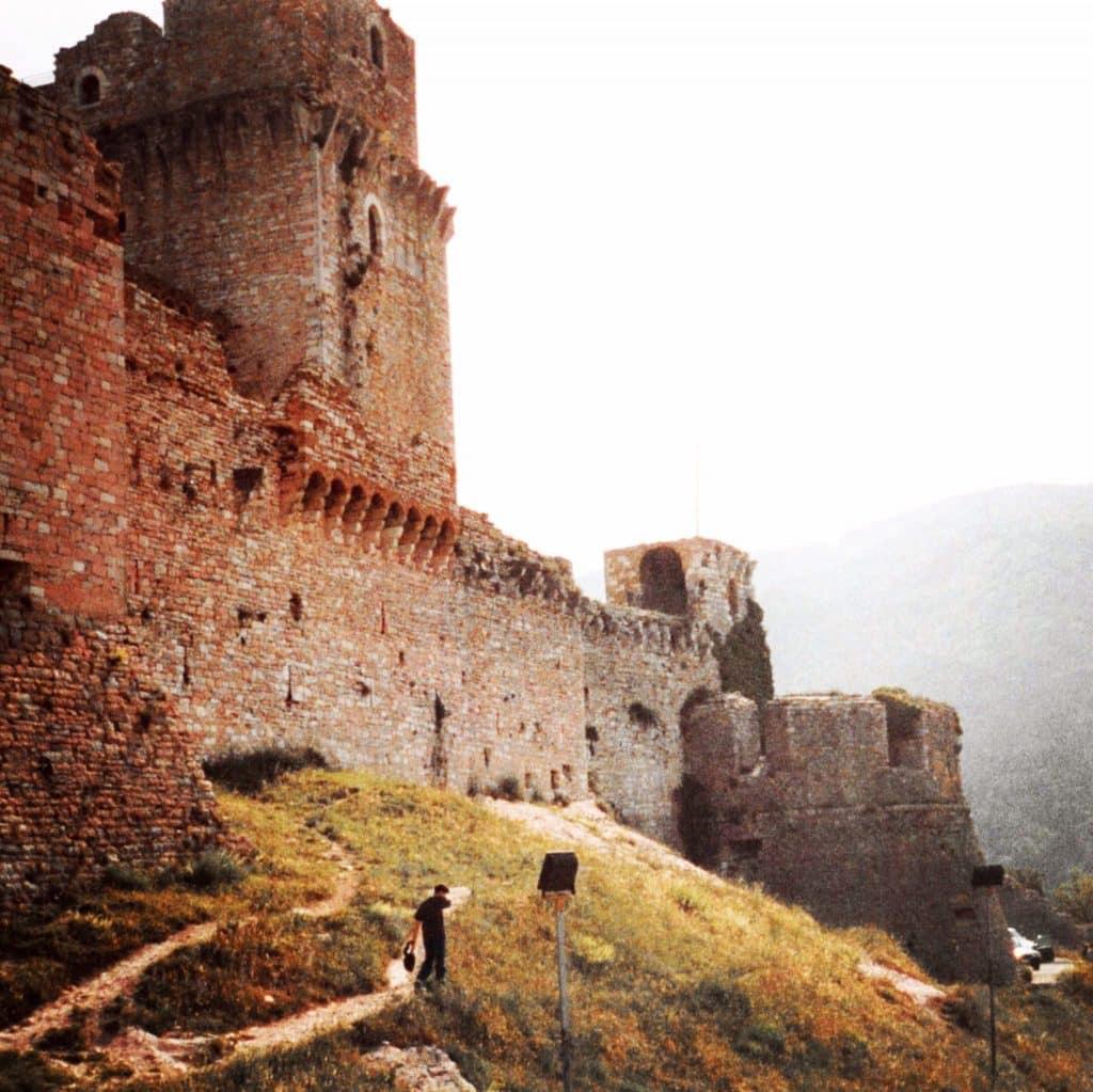 Rocca Maggiore Castle walls in Assisi Italy