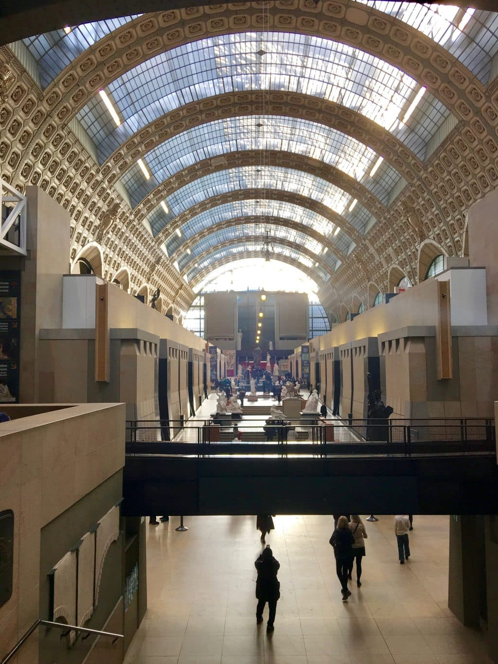 The view inside of the Musée d'Orsay