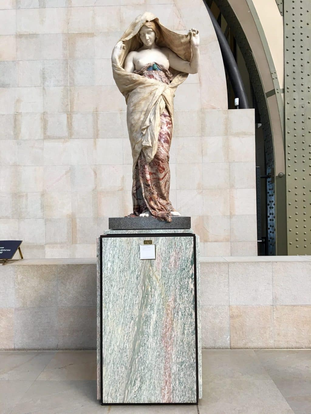 Beautiful sculpture in marble showing all its beautiful colors