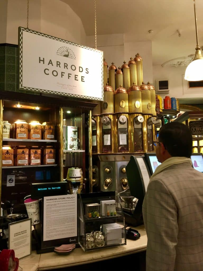 Harrods coffee