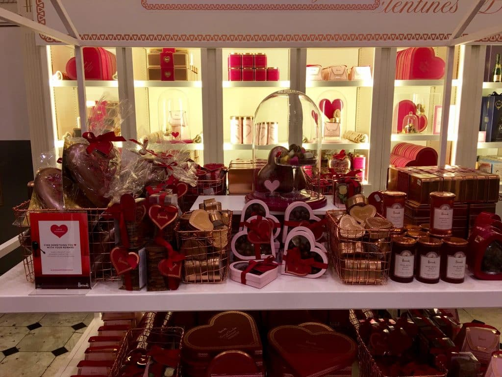 Valentine Chocolates at Harrods