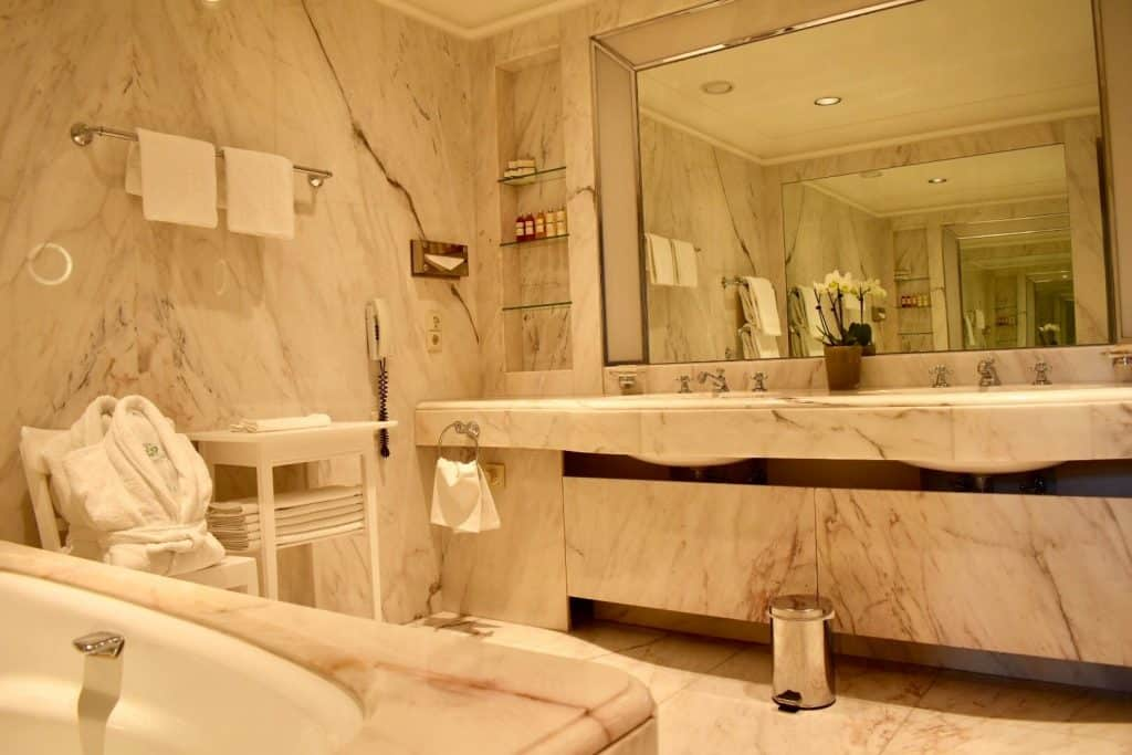 Bathroom in Brenners Park-Hotel & Spa suite