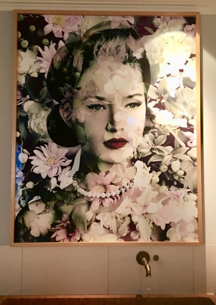 Beautiful portrait of a lady and flowers at Brenners spa