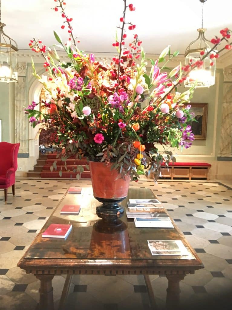 Lovely Flowers in the lobby at the Brenners Park-Hotel & Spa