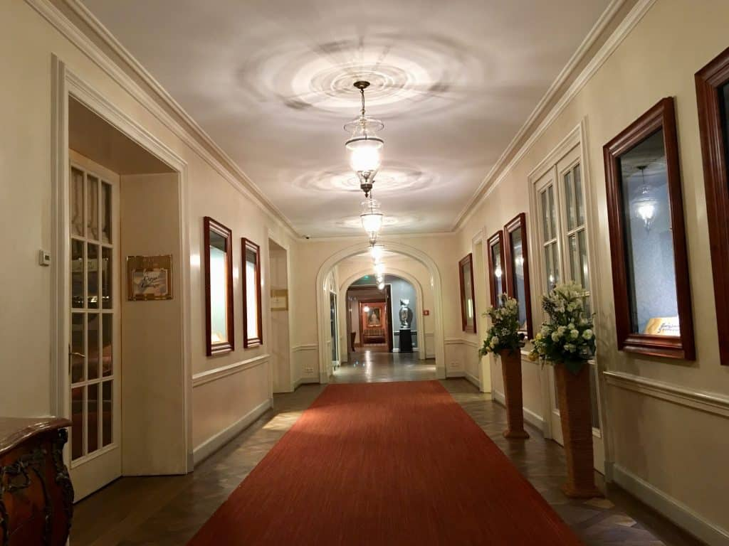 Hallway of hotel in Baden Baden