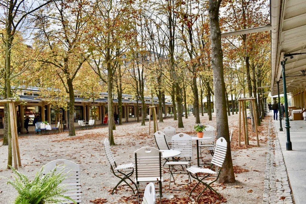 Baden Baden's Shopping area near casino