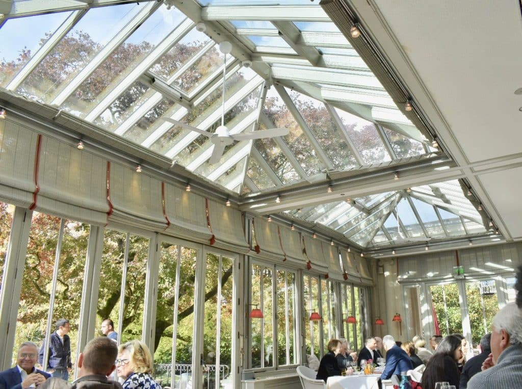 Wintergarten Restaurant at Brenners Park-Hotel & Spa; glass atrium
