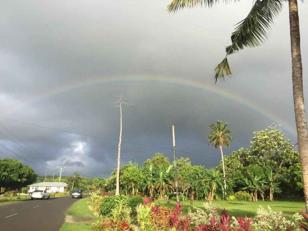 Rainbow in Samoa