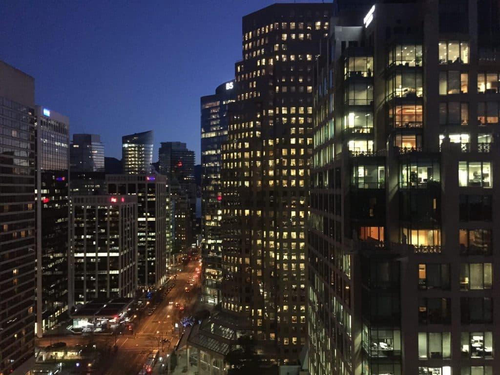 Fairmont Vancouver Hotel view