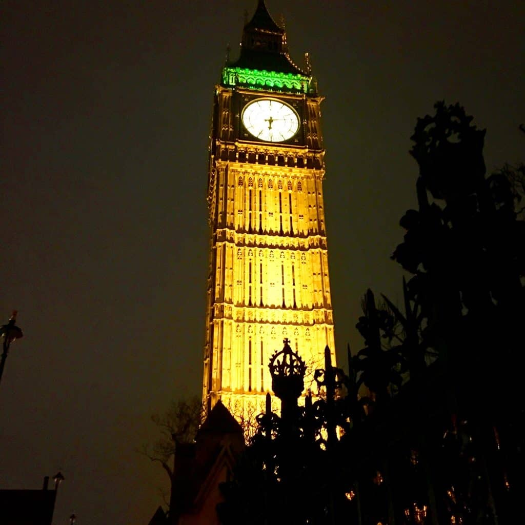 Big Ben at night is beautiful!