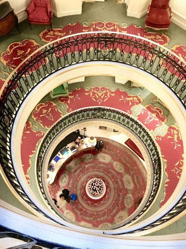 The Ritz spiral staircase in London