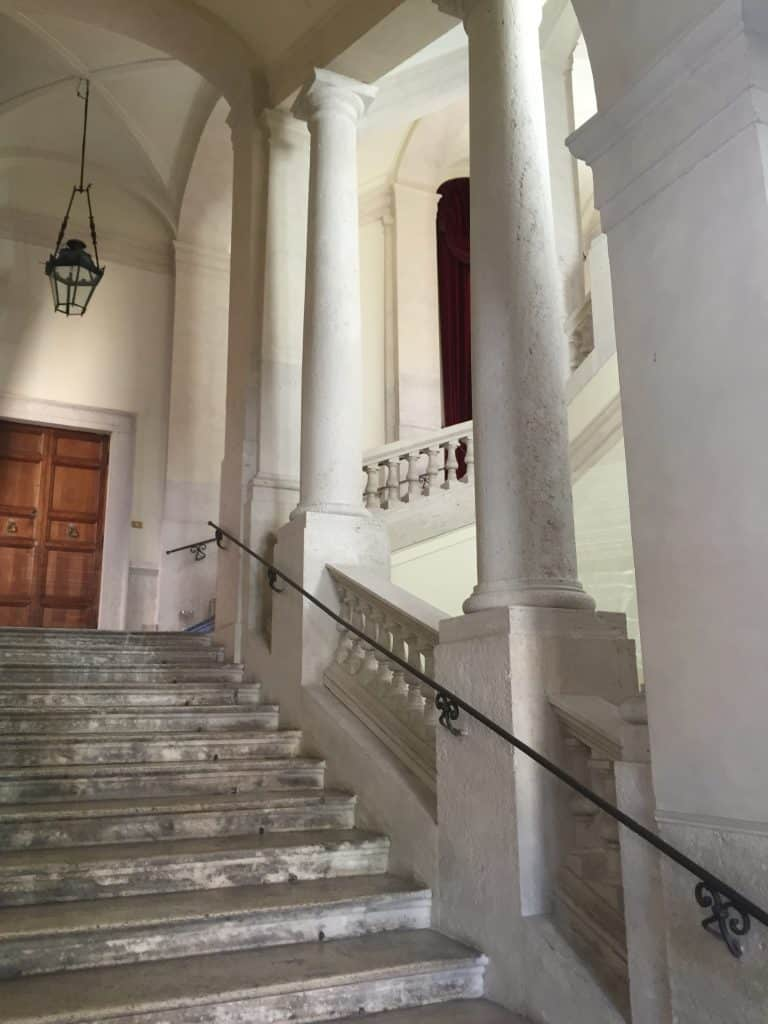 apartment staircase in Rome Italy