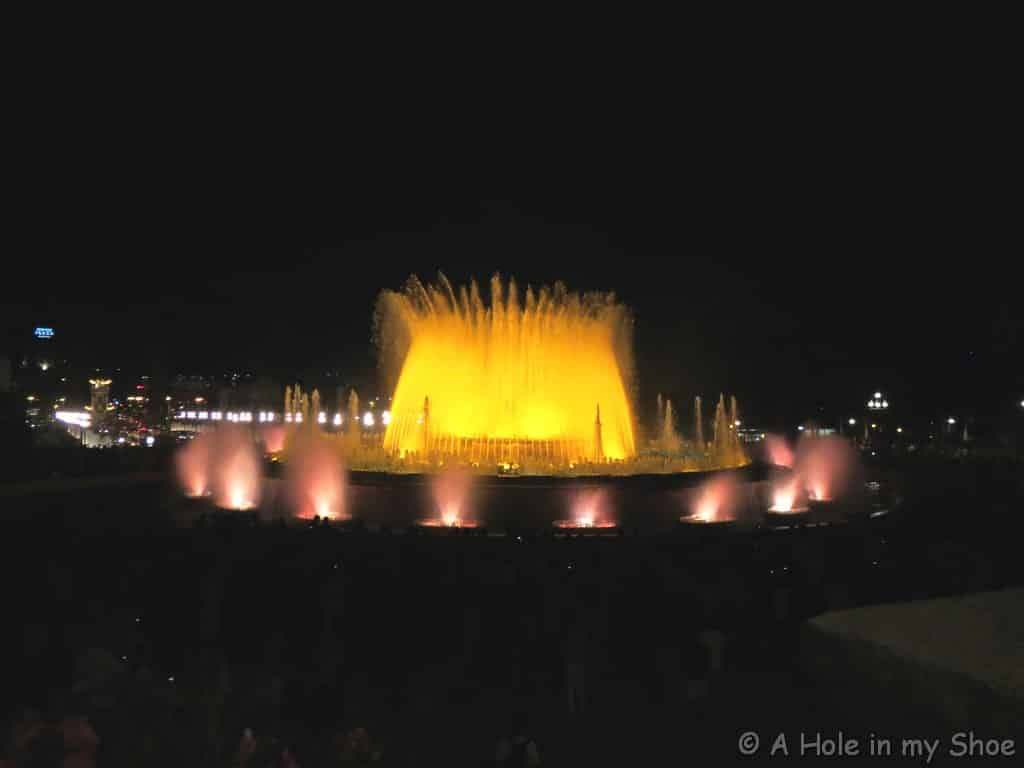 Montjuic Fountain Barcelona Spain