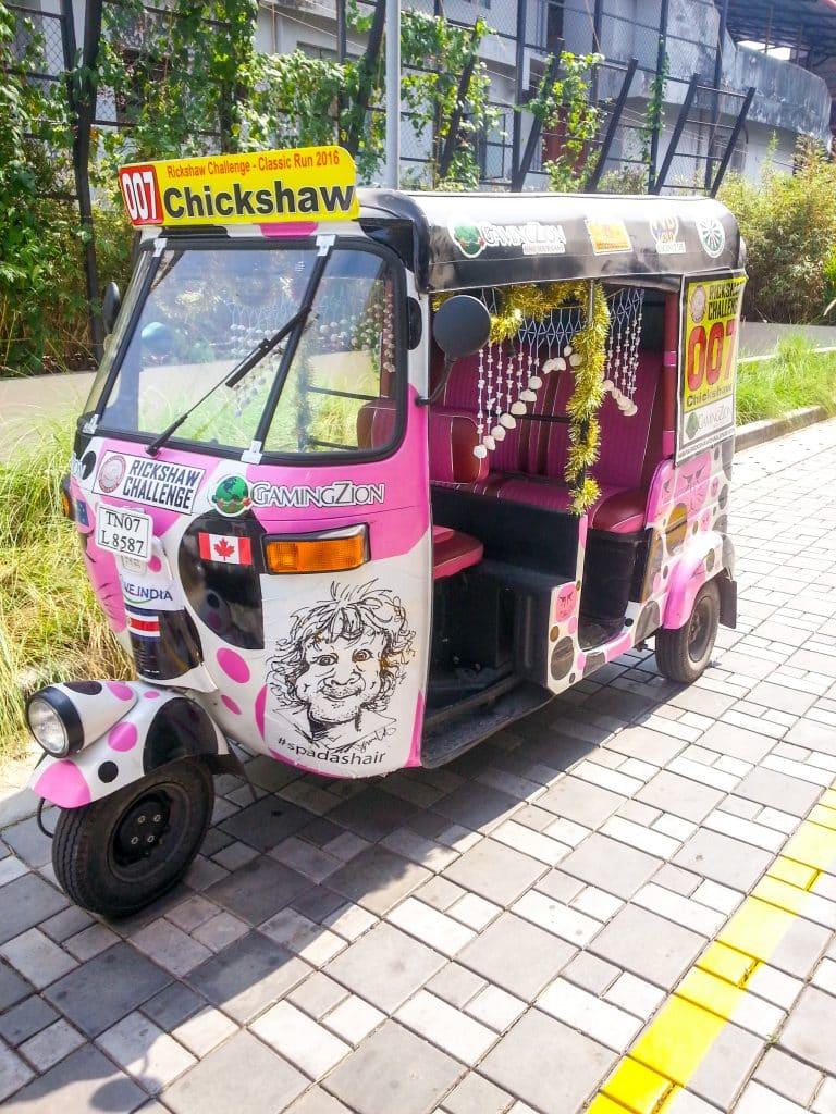 Adventure Travel: Adventure Seeker Driving a Rickshaw across India