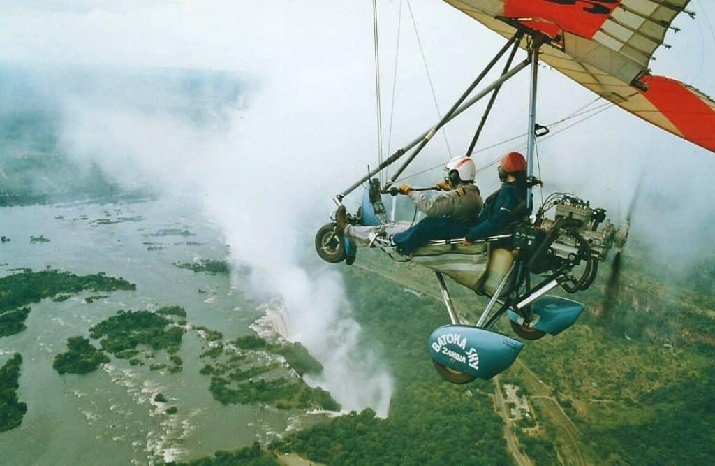 Adventure Travel: Adventure Seeker Microlighting over Victoria Falls