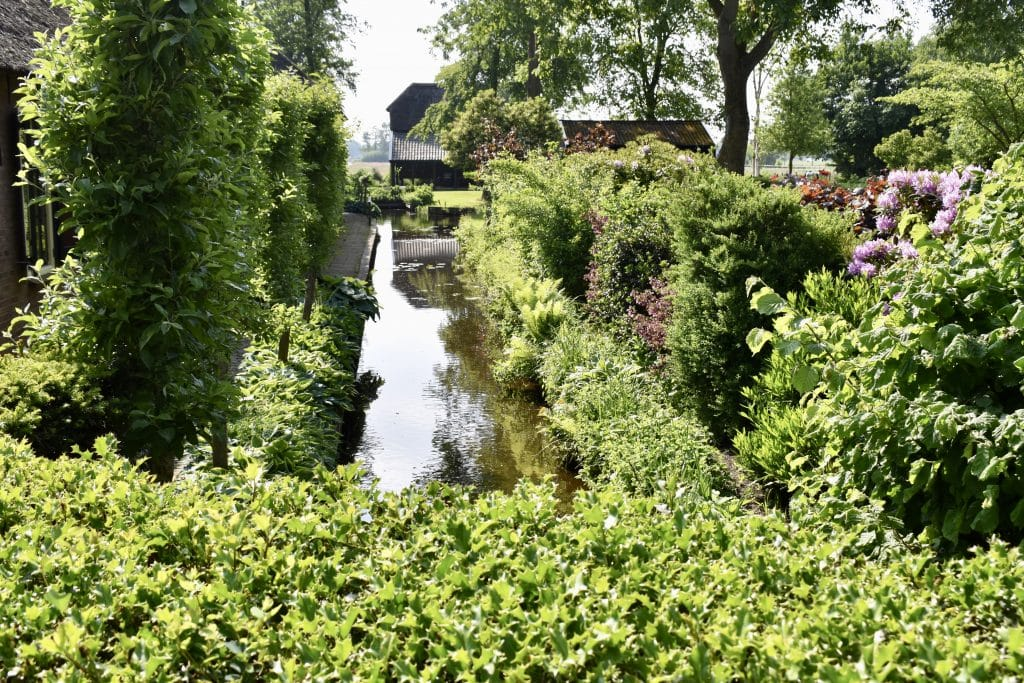 Small private's canal in Giethoorn Netherlands