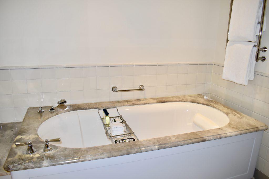 Amazing tub to soak in at the Waldorf Astoria Amsterdam