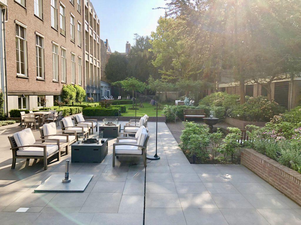 Garden lounge of the Waldorf Astoria Amsterdam