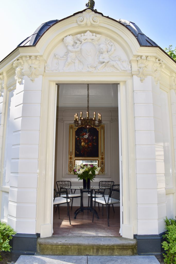 Beautiful garden with small room to dine at Waldorf Astoria Amsterdam