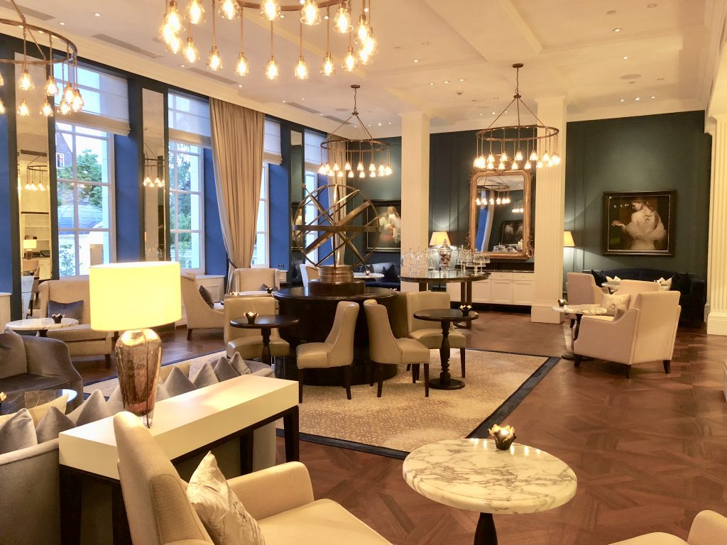 Welcoming place to gather and have tea and sweets at the Waldorf Astoria Amsterdam Hotel