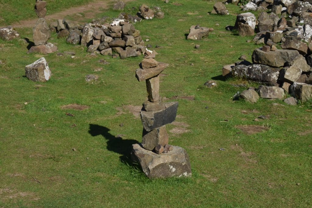 Stone structure at the Fairy Glen of Uig, Isle of Skye Scotland