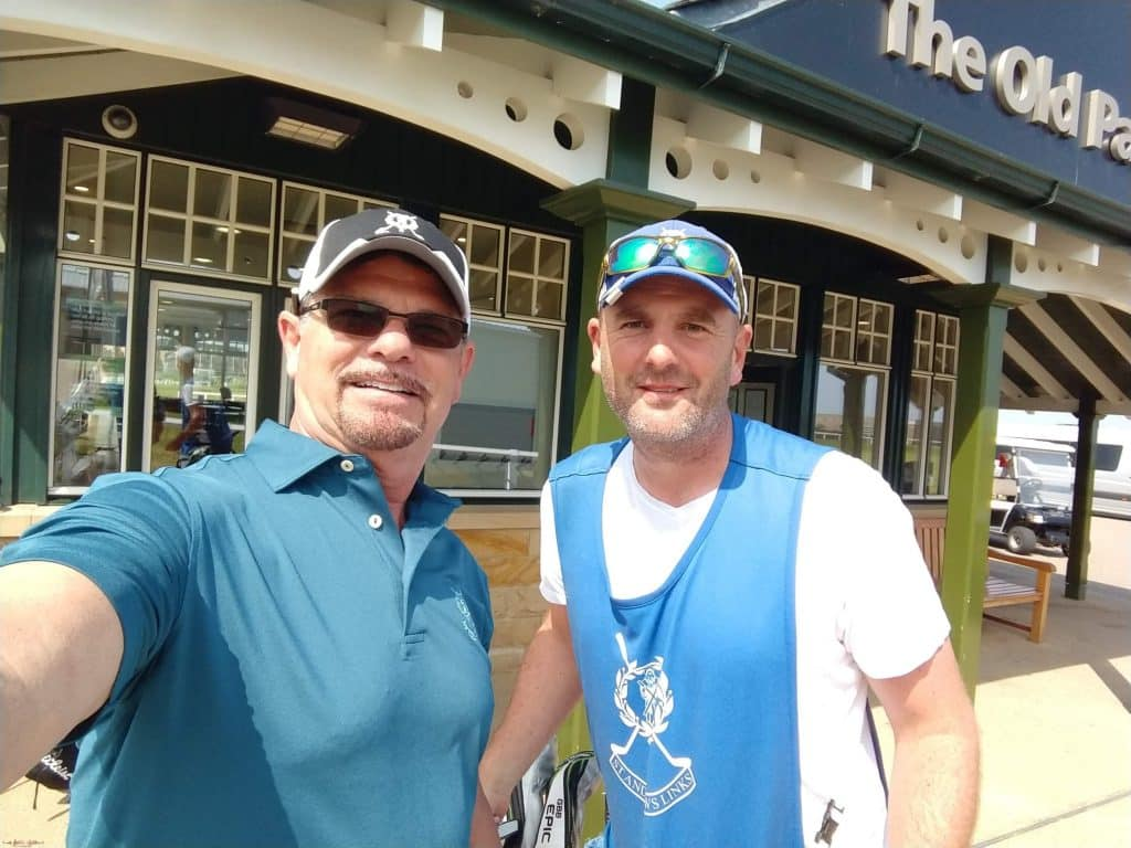 Cabbie and husband Kevin at the Old course St. Andrews