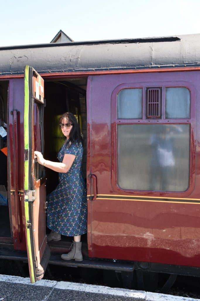 Boarding the Jacobite steam train in Scotland