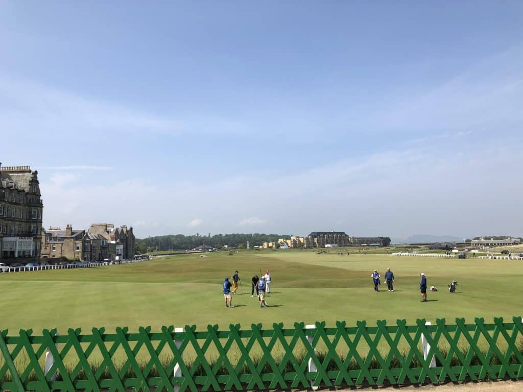 as we watch golfers and try to figure out How to golf at St. Andrews Old Course with no reservation