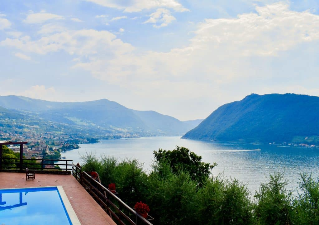 view of Lago d'Iseo with pool