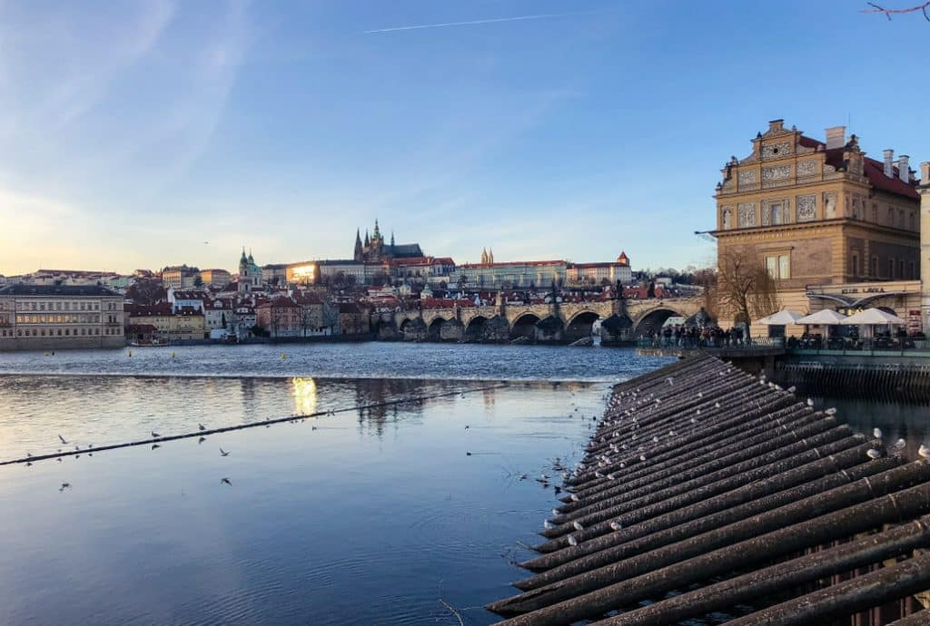 Prague Castle And Charles Bridge for Valentines Day