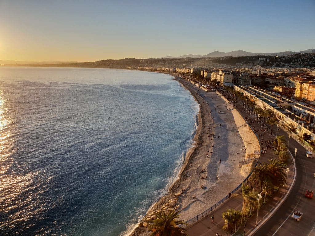 Romantic Nice coastline