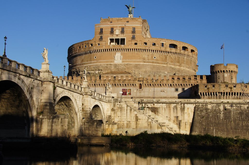 Castel Sant'Angelo Bridge where Beatrice Cenci was beheaded